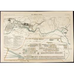 1913 - Carte ancienne des...