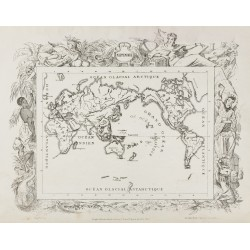 1874 - Mappemonde & Carte...