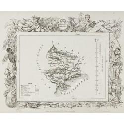1874 - Carte ancienne des...