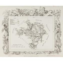 1874 - Carte ancienne du...
