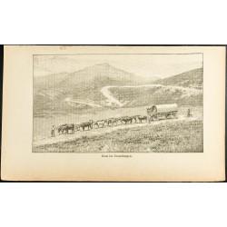 1892 - Charrette de paysans...