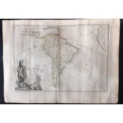 1762 - Carte de l'Amérique...