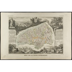 1852 - Carte géographique...