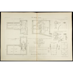 1886 - Égout : Plan ancien...