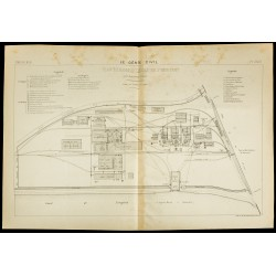 1886 - Plan de l'usine de...