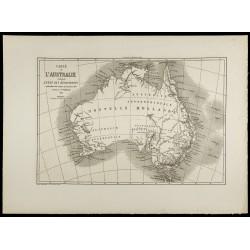 1860 - Carte ancienne de...