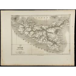 1860 - Carte ancienne de la...