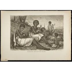1860 - Femmes fumant la...
