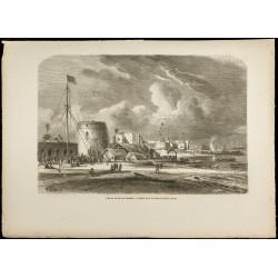 1860 - Port de la ville de...