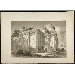 1860 - Temple ruiné de...