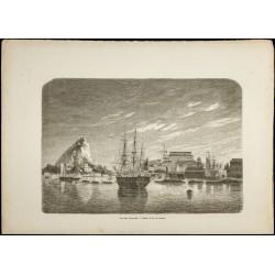 1860 - Vue des Bermudes - Port
