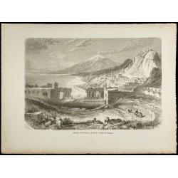 1860 - Taormine et l'Etna -...