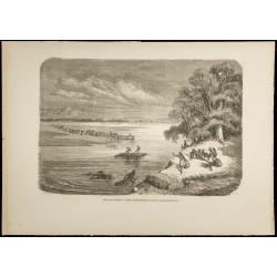 1860 - Vue du Rio Colorado...