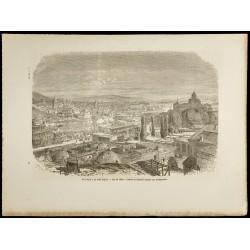1860 - Vue de la ville de...
