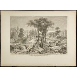 1860 - Un portage - Canada