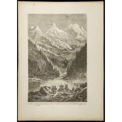 1860 - Vue des montagnes...