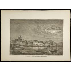 1860 - Vue de Buenos Aires...