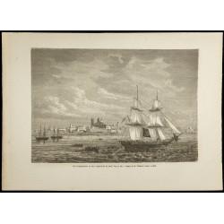 1860 - Vue de Montevideo en...