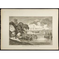 1860 - Débarcadère de Macao...
