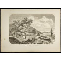 1860 - Une plage de la baie...