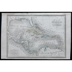 1840 - Carte des Antilles