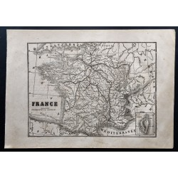 1867 - Petite carte de France
