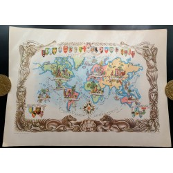 1951 - Mappemonde de...
