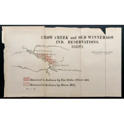 1885 - Carte de réserves...