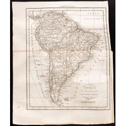 1824 - Carte de l'Amérique...