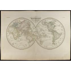 1846 - Mappemonde en deux...