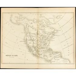 1892 - Carte de l'Amérique...