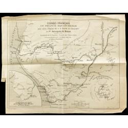 1886 - Carte ancienne du...