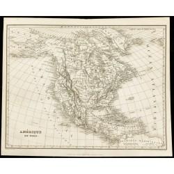 1850 - Carte de l'Amérique...