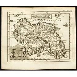 1710 - Carte ancienne de...