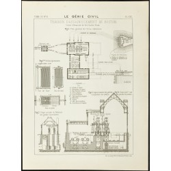 1888 - Plan des travaux...
