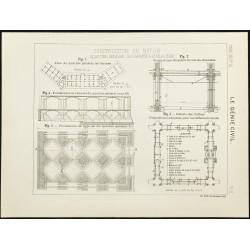 1891 - Plan d'un quartier...