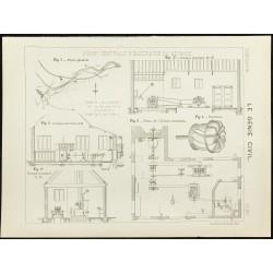 1891 - Plan de l'usine...