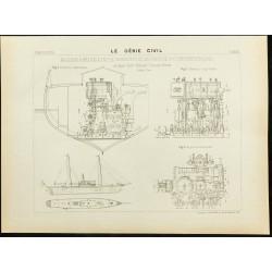 1892 - Plan ancien d'une...