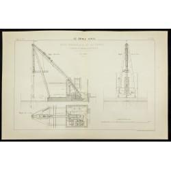 1888 - Plan ancien d'une grue