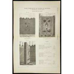 1891 - Plaques de blindage
