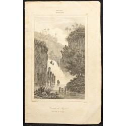 1863 - Vue de la cascade de...