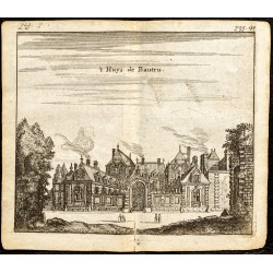 1661 - Vue de l'hôtel...