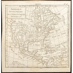 1750 - Carte de l'Amérique...