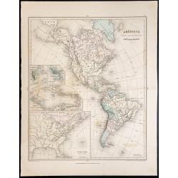 1879 - Carte de l'Amérique