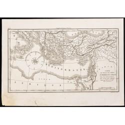 1844 - Carte des voyages...