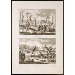 1844 - Potence et Lapidation