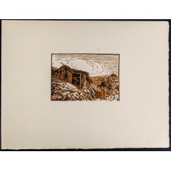 1916 - Cabane de glaisier