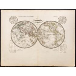 1843 - Mappemonde en deux...