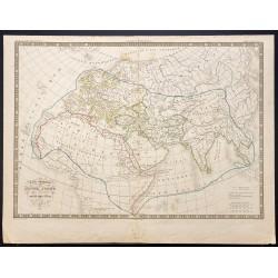 1836 - Carte du monde connu...