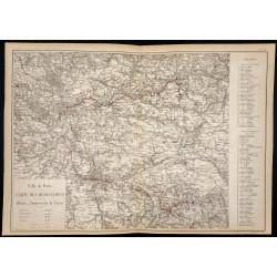 1882 - Carte de la Vanne et...